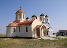 Orthodox Monastery Codru with two churches,  near Tulcea , Roman Royalty Free Stock Photo