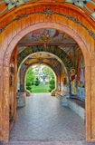 Orthodox church - Monastery Bujoreni - landmark attraction in Vaslui County, Romania Royalty Free Stock Photo
