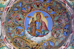 Orthodox monastery - fresco. Very old monastery in central Bulgaria protected by UNESCO Stock Image