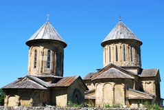 Orthodox monastery in Georgia. Ancient capital of Georgia - Mtsheta and old church in it Stock Photography