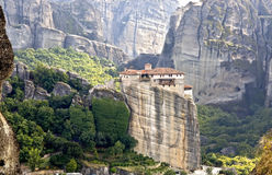 Orthodox, monastery in Greece. Orthodox, monastery at Meteora near Kalambaka in Greece Royalty Free Stock Images