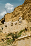 Orthodox Monastery. Greek Orthodox Monastery of St.. Hozevit George in the Judean Desert. Canyon Wadi Kelt Stock Photography