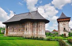 Monastery Gura Humorului, Romania Royalty Free Stock Photos
