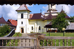 Orthodox monastery at gura humorului Stock Photography