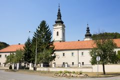 The orthodox monastery Jazak in Serbia. The Jazak monastery is located in the northern Serbia, in the province of Vojvodina. The monastery was founded in 1736 royalty free stock image
