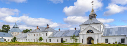 Orthodox Monastery. On the Konevets Island, Lake Ladoga, Russia stock photography