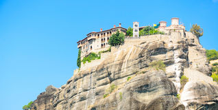 Orthodox monastery in Meteora, Greece Royalty Free Stock Photo