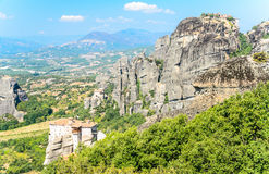 Orthodox monastery in Meteora, Greece Royalty Free Stock Images