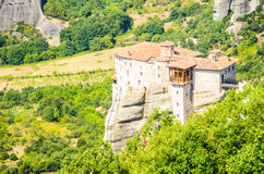 Orthodox monastery in Meteora, Greece Royalty Free Stock Photos