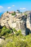 Orthodox monastery in Meteora, Greece Stock Images