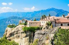 Orthodox monastery in Meteora, Greece Royalty Free Stock Photos