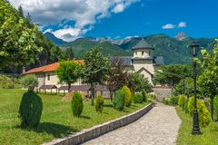 Orthodox monastery Moraca. Royalty Free Stock Images