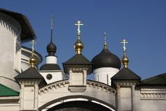 Orthodox monastery in Moscow stock images