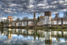 Moscow monastery, HDR. HDR image of Novodevichy Convent, the most famous monastery in Moscow, Russia Stock Photo
