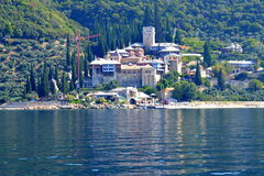 Orthodox monastery Mount Athos  Greece Stock Photo