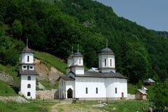 Orthodox monastery in mountains, Romania royalty free stock photo