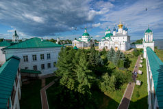 Orthodox monastery in old Russian town Rostov the Great. Royalty Free Stock Image