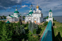 Orthodox monastery in old Russian town Rostov the Great. Stock Image