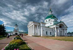 Orthodox monastery in old Russian town Rostov the Great. Stock Photos