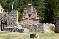The orthodox monastery Ravanica in Serbia Royalty Free Stock Photo