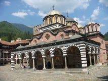 Orthodox monastery of Rila in Bulgaria. royalty free stock photography