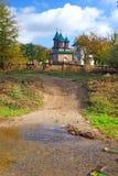 Orthodox monastery in romania stock photos