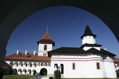 Orthodox monastery in Romania. A view of a romanian orthodox monastery Royalty Free Stock Photos