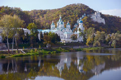 Orthodox monastery, Sacred mountains. Donbass, Ukraine Royalty Free Stock Photography