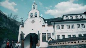 Orthodox monastery in southeastern Europe stock footage