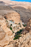 Monastery of St. George in Palestine. Orthodox Monastery of St.. George - one of the oldest monasteries in  world, is located in the lower valley Kelt in the Stock Photography