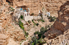 Monastery of St. George in Palestine. Orthodox Monastery of St.. George - one of the oldest monasteries in  world, is located in the lower valley Kelt in the Stock Photo