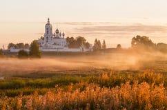 Orthodox monastery at sunrise Stock Images