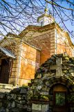 Orthodox monastery Tikhonova Pustyn in the Kaluga region (Russia). Royalty Free Stock Images