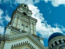 Orthodox monastery Tikhonova Pustyn in the Kaluga region (Russia). Tikhonova Pustyn Holy Dormition monastery of the Russian Orthodox Church, situated in the Stock Photography