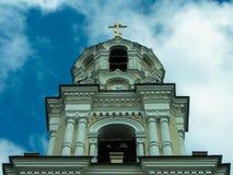 Orthodox monastery Tikhonova Pustyn in the Kaluga region (Russia). Tikhonova Pustyn Holy Dormition monastery of the Russian Orthodox Church, situated in the Stock Photo