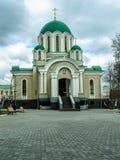 Orthodox monastery Tikhonova Pustyn in the Kaluga region (Russia). Stock Photos