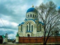 Orthodox monastery Tikhonova Pustyn in the Kaluga region (Russia). Tikhonova Pustyn Holy Dormition monastery of the Russian Orthodox Church, situated in the Stock Images