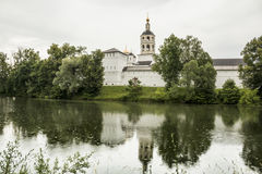 Orthodox monastery in the town of Borovsk near Moscow. Stock Photos