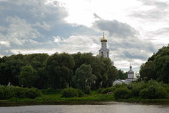 Orthodox monastery in the trees Stock Photography
