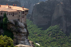 Orthodox Monastery Varlaam on the rock, near Kalampaka, Meteora Royalty Free Stock Images