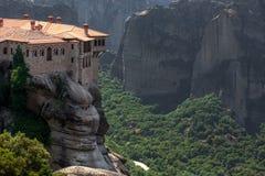 Orthodox Monastery Varlaam on the rock, near Kalampaka, Meteora Royalty Free Stock Images