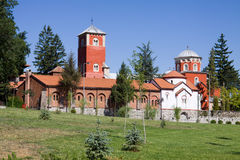 The orthodox monastery Zica in Serbia. The Monastery was founded in 13th century near Kraljevo city Royalty Free Stock Image