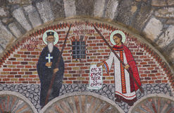 Orthodox mosaic. Background religion church Royalty Free Stock Photos