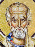 Orthodox mosaic icon. At the Archdiocese of Râmnic. The Archdiocese of Râmnic is a Romanian Orthodox archdiocese based in Râmnicu Vâlcea, Romania, in the Royalty Free Stock Photo