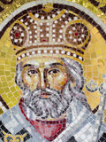 Orthodox mosaic icon. At the Archdiocese of Râmnic. The Archdiocese of Râmnic is a Romanian Orthodox archdiocese based in Râmnicu Vâlcea, Romania, in the Royalty Free Stock Photography