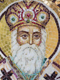 Orthodox mosaic icon. At the Archdiocese of Râmnic. The Archdiocese of Râmnic is a Romanian Orthodox archdiocese based in Râmnicu Vâlcea, Romania, in the Stock Image