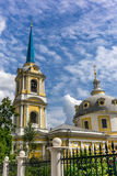 Orthodox in Moscow under white clouds and deep blue sky - 3 Royalty Free Stock Images