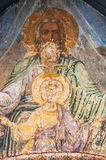 Orthodox mural painting. Fragment of the Christian mural painting in Thikhvin monastery, Russia Royalty Free Stock Photos
