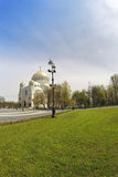Orthodox Naval cathedral of St. Nicholas in Kronshtadt, Saint-petersburg Russia Stock Photo