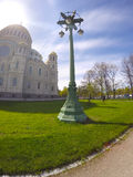 Orthodox Naval cathedral of St. Nicholas in Kronshtadt, Saint-petersburg Russia Royalty Free Stock Images